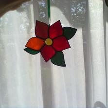 Virág tiffany ablakdísz