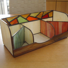 Mozaikos kombinált tiffany írószertartó