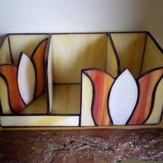 Tiffany írószertartó Tulipánokkal