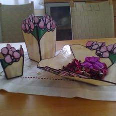 Orchideás tiffany váza