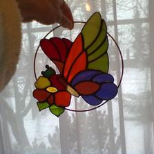 Tiffany pillangó ablakdísz