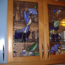 Tiffany konyhaszekrény üveg