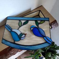 Boldogság kék madara(i) pénzátadó doboz