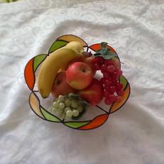 Gyümölcsös tiffany tál