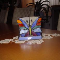 Tiffany írószertartó pillangóval
