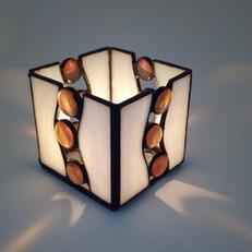 Tiffany mécsestartó gyöngyökkel