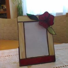 Tiffany képkeret 3 dimenziós virággal