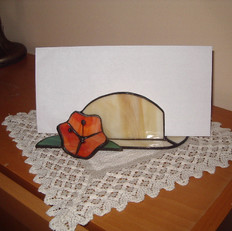 Tiffany irattartó 3 dimenziós virággal