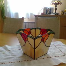 Tulipános tiffany kaspó