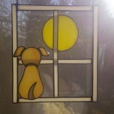 Kutyus és Hold ablakdísz