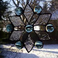 Hópehely Tiffany ablakdísz