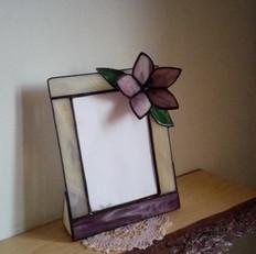 Tiffany fényképtartó virággal