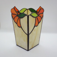 Virágos tiffany váza