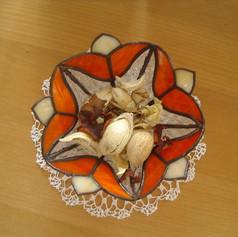 Tulipános tiffany tál