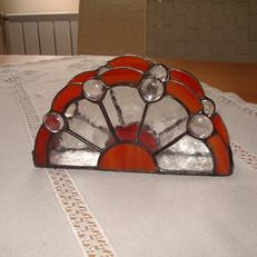 Tiffany szalvétatartó gyöngyökkel