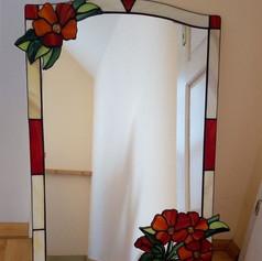 Tiffany tükör virágcsokorral