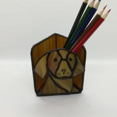 Vizslás tiffany ceruzatartó