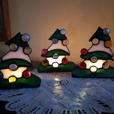Karácsonyfa tiffany mécsestartó