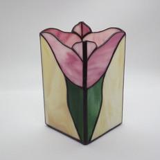 Tulipános tiffany váza
