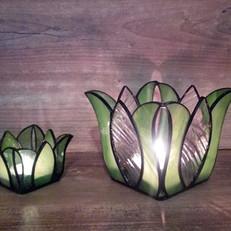 Óriás Tulipán Tiffany mécsestartó