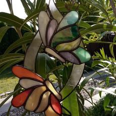 Pillangók tánca tiffany ablakdísz