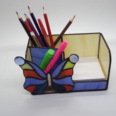 Pillangós tiffany írószertartó