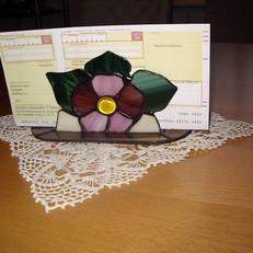 Virágos tiffany irattartó