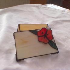 Tiffany díszdoboz 3 dimenziós virággal