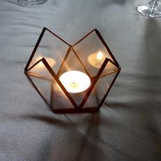 Tiffany geometrikus mécsestartó