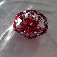Gyöngyös tiffany tányér
