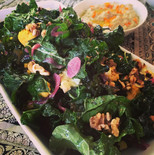 Kale Salad with Pickled Red Onion