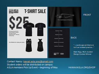 ASLA Hawaii T-Shirt Sale