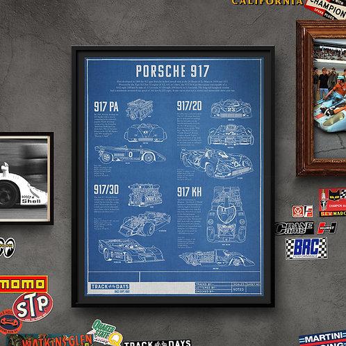 Porsche 917 Blue Print