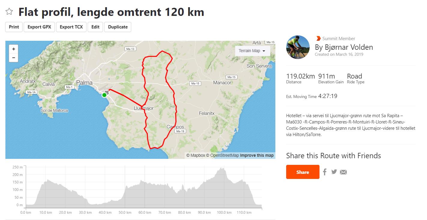 Flat profil 120 km