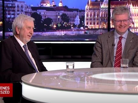 Andor László és Jeszenszky Géza az Egyenes beszédben