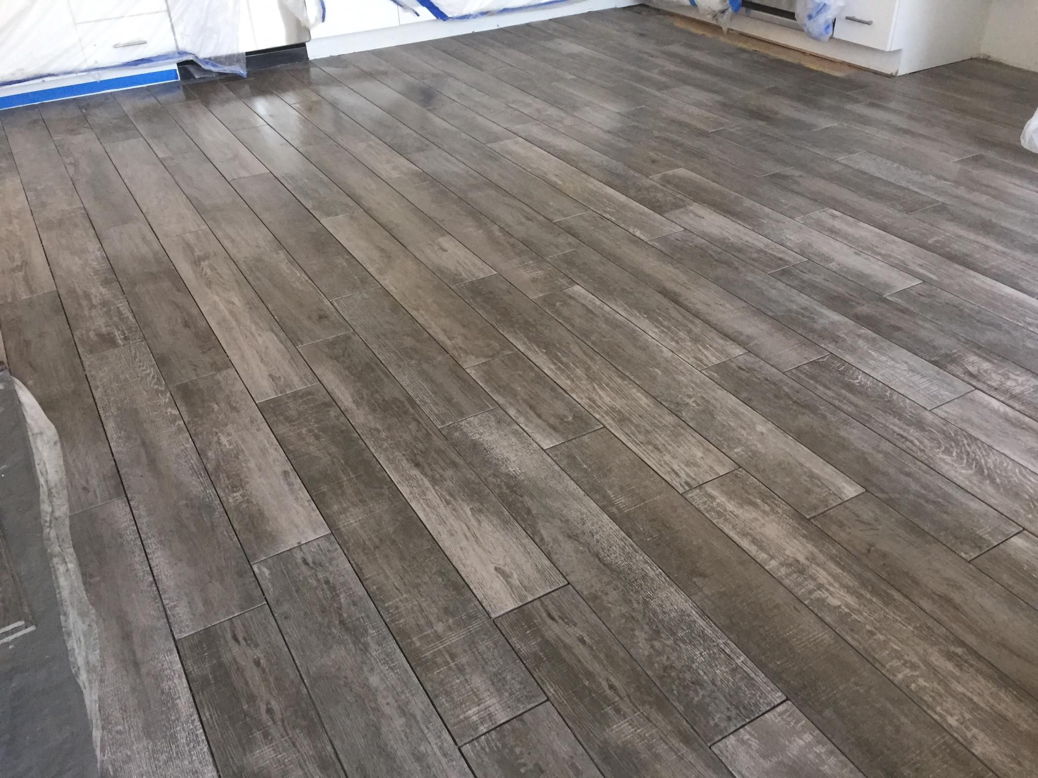 Plank Tile Installed LB CA