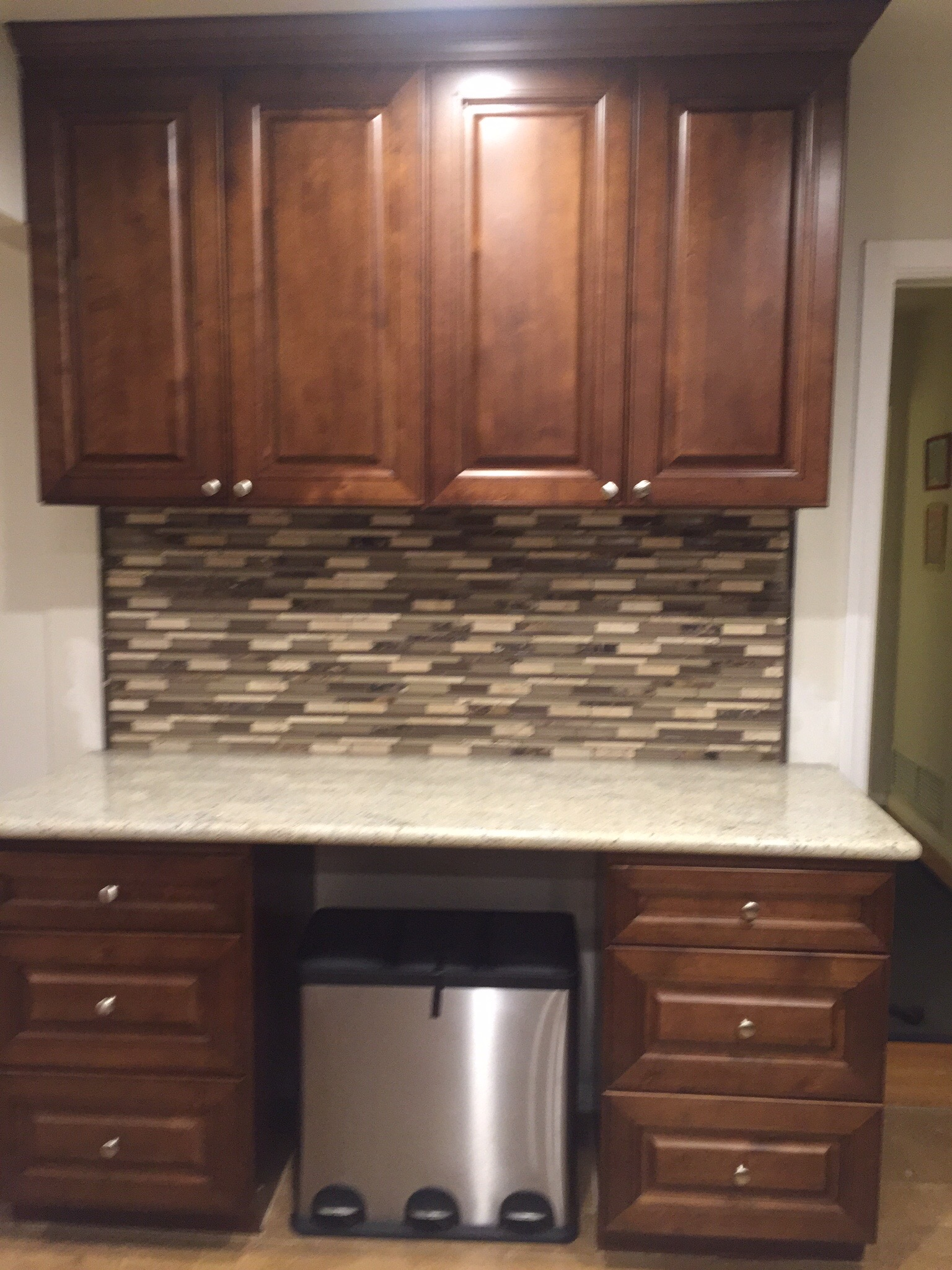 Glass Tile Backsplash Install