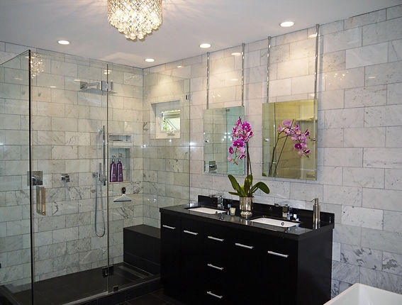 tile installation Long Beach, subway tile, white tile, tub surround, white subway tile install