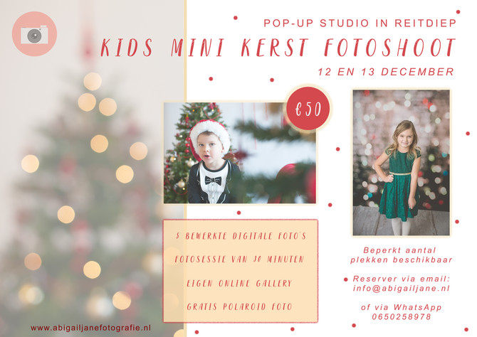 POP-UP Studio- Kids mini kerst fotoshoots