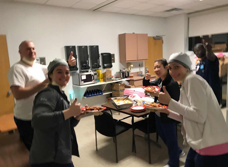 Your Donation IS Making difference: Dinner for Rochester Regional Hospital ICU night shift medical