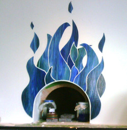 Mosaiced Pizza Oven