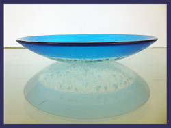 Blue Spotted Bowl Side view