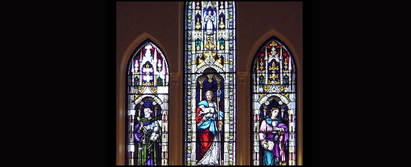 Restoration of church stained glass, Nova Scotia.