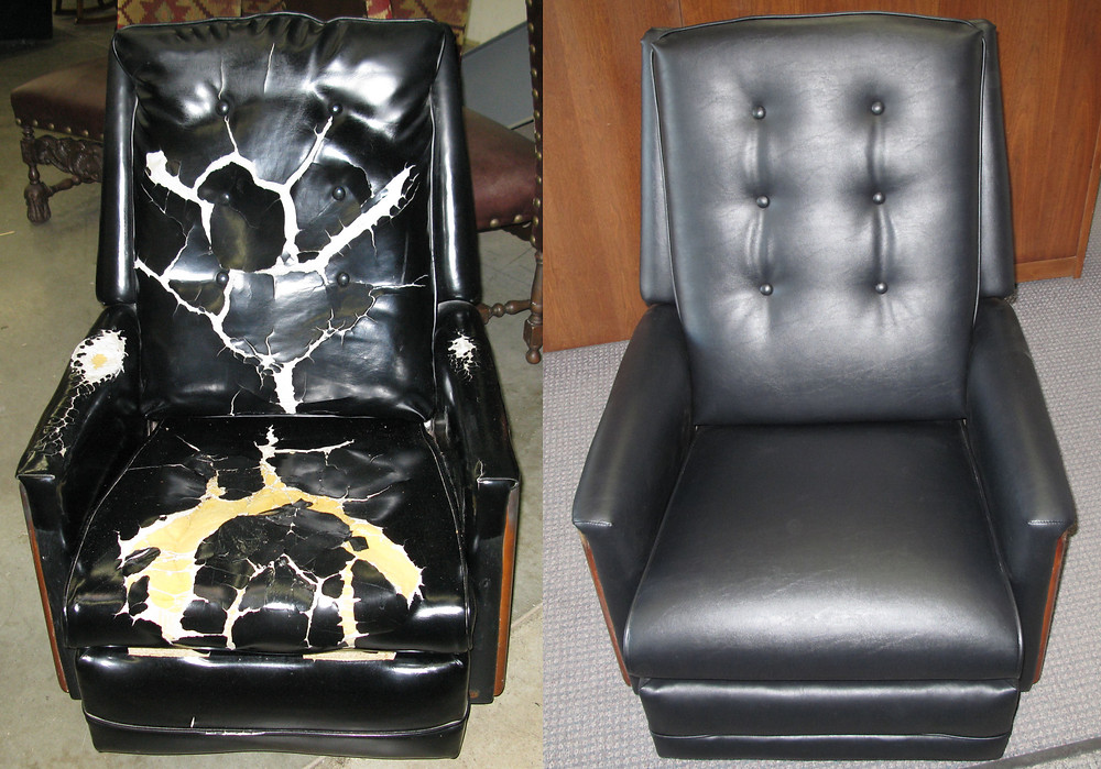 Furniture repair and reupholstery services at Quality touchup