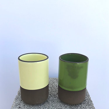 Mixed Cylindrical Glass - Set of 2