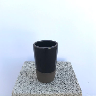 Black Conical Glass (L)