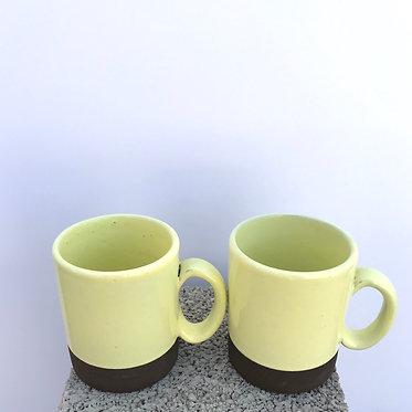 Lemon Yellow Mugs - Set of 2