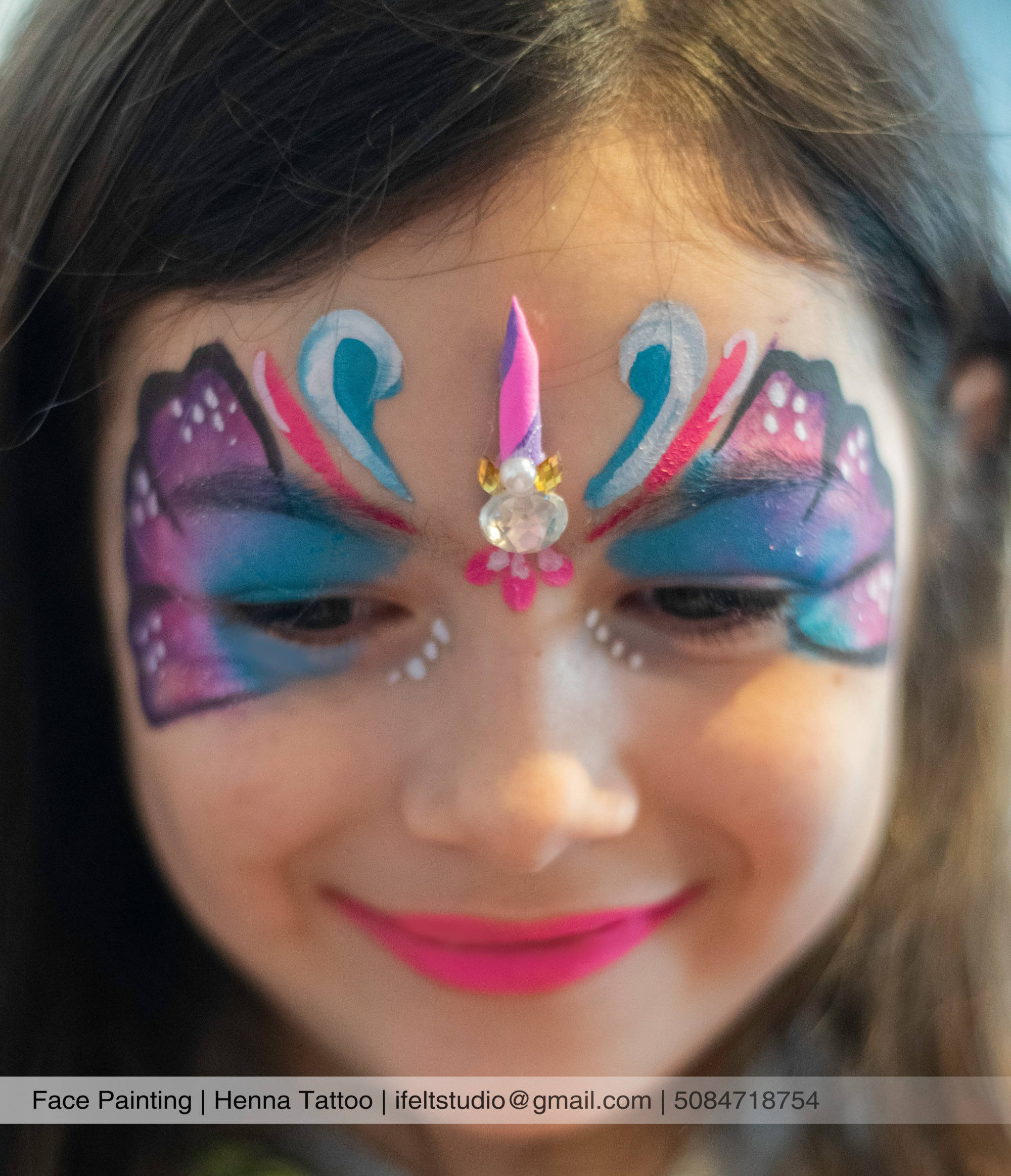 face painting_unicorn_theme