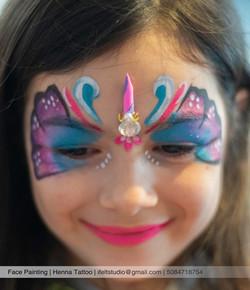 face painting_unicorn_theme