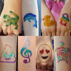 Glitter-Tattoos